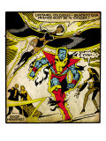 Marvel Comics Retro: X-Men Comic Panel, Colossus, Storm, Charging and Flying (aged) Posters