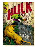 Marvel Comics Retro: The Incredible Hulk Comic Book Cover 109, the Lost Land of Ka-Zar (aged) Prints
