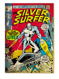 Marvel Comics Retro: Silver Surfer Comic Book Cover 17 (aged) Art