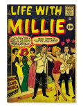 Marvel Comics Retro: Life with Millie Comic Book Cover #13, Bathing Suit, Beach Club Dance (aged) Posters