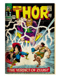 Marvel Comics Retro: The Mighty Thor Comic Book Cover 129, The Verdict of Zeus, Hercules (aged) Art