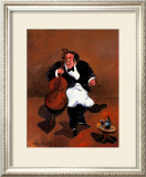 Cellist with Red Wine Prints by Guy Buffet