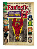 Marvel Comics Retro: Fantastic Four Family Comic Book Cover 54, Featuring the Human Torch (aged) Posters