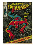 Marvel Comics Retro: The Amazing Spider-Man Comic Book Cover No.100, 100th Anniversary Issue (aged) Print