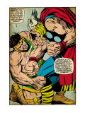 Marvel Comics Retro: Mighty Thor Comic Panel, Hercules (aged) Prints