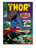 Marvel Comics Retro: The Mighty Thor Comic Book Cover 141, Who is Replicus (aged) Print