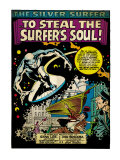Marvel Comics Retro: Silver Surfer Comic Panel (aged) Prints