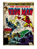 Marvel Comics Retro: The Invincible Iron Man Comic Book Cover 124, Action in Atlantic City (aged) Art