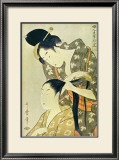 Woman Dressing Another's Hair Posters by Utamaro Kitagawa