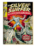 Marvel Comics Retro: Silver Surfer Comic Book Cover No.18, Against the Unbeatable Inhumans! (aged) Poster