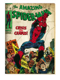 Marvel Comics Retro: The Amazing Spider-Man Comic Book Cover No.68, Crisis on Campus (aged) Print