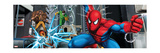 Spider-Man, Kraven the Hunter, Shocker, and Doctor Octopus Fighting in the City Poster