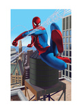 Spider-Man Swinging In the City Prints