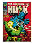 Marvel Comics Retro: The Incredible Hulk Comic Book Cover 110, with Umbu the Unliving (aged) Poster