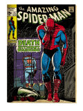Marvel Comics Retro: The Amazing Spider-Man Comic Book Cover 75, Death Without Warning! (aged) Prints