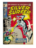 Marvel Comics Retro: Silver Surfer Comic Book Cover 7 (aged) Prints