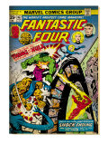 Marvel Comics Retro: Fantastic Four Family Comic Book Cover 167, Thing and the Hulk (aged) Prints