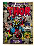 Marvel Comics Retro: The Mighty Thor Comic Book Cover 123, Mystery with Absorbing Man, Odin(aged) Prints