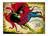 Marvel Comics Retro: The Amazing Spider-Man Comic Panel, Medusa (aged) Prints