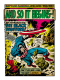 Marvel Comics Retro: Captain America Comic Panel, And So It Begins..! (aged) Julisteet