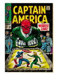 Marvel Comics Retro: Captain America Comic Book Cover 103, Red Skull, the Weakest Link (aged) Art
