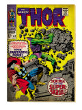 Marvel Comics Retro: The Mighty Thor Comic Book Cover No.142, Scourge of the Super Skrull! (aged) Print