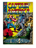 Marvel Comics Retro: Captain America Comic Book Cover 101, Red Skull (aged) Art