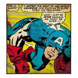Marvel Comics Retro: Captain America Comic Panel, Monologue, I'm in Luck! (aged) Kunstdrucke