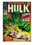 Marvel Comics Retro: The Incredible Hulk Comic Book Cover No.102, Big Premiere Issue (aged) Prints