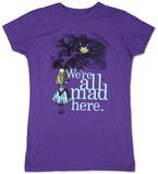 Juniors: Alice in Wonderland - We're all Mad Here T-skjorter