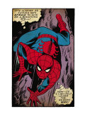 Marvel Comics Retro: The Amazing Spider-Man Comic Panel, Crawling (aged) Prints