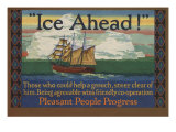 Ice Ahead! Those Who Could Help A Grouch Steer Clear of Him Posters