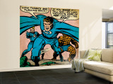 Marvel Comics Retro: Fantastic Four Comic Panel, Thing, Mr. Fantastic, Human Torch (aged) Wall Mural – Large
