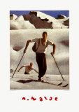 Der Aufstieg Kunstdrucke von Alfons Walde