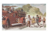 Running With The Firetruck Prints