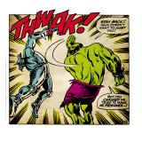 Marvel Comics Retro: The Incredible Hulk Comic Panel, Fighting, Thwak! (aged) Prints