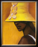 Yellow Hat Prints by Laurie Cooper