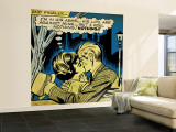 Marvel Comics Retro: Love Comic Panel, Kissing in the Park (aged) Fototapete – groß