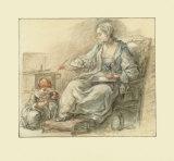 Lady Writing Samlertryk af Francois Guérin