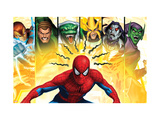 Spider-Man, Shocker, Sandman, Lizard, Electro, Morbius and Green Goblin Art