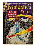 Marvel Comics Retro: Fantastic Four Family Comic Book Cover 47, Beware, the Hidden Land! (aged) Prints