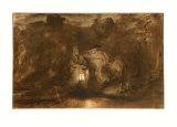 Rest on the Flight into Egypt Samlertryk af Rembrandt van Rijn