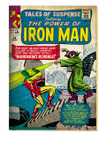Marvel Comics Retro: The Invincible Iron Man Comic Book Cover 54, Mandarin's Revenge! (aged) Prints