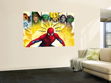Spider-Man, Shocker, Sandman, Lizard, Electro, Morbius and Green Goblin Muurposter