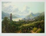 The Rhine near Oberwesel Samletrykk av Heinrich Schilbach