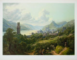 The Rhine near Oberwesel Collectable Print by Heinrich Schilbach