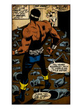 Marvel Comics Retro: Luke Cage, Hero for Hire Comic Panel (aged) Print