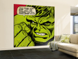 Marvel Comics Retro: The Incredible Hulk Comic Panel (aged) Premium Wall Mural (Large)