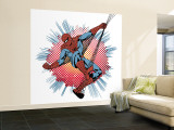 Marvel Comics Retro: Spider-Man (aged) Premium Wall Mural (Large)