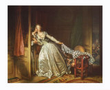 The Secret Kiss Collectable Print by Jean-Honor&#233; Fragonard